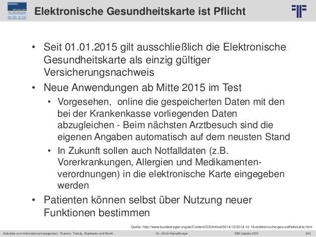 243 © PROJECT CONSULT Unternehmensberatung Dr. Ulrich Kampffmeyer GmbH 2011 / Autorenrecht: <Vorname Nachname> Jun-15 / Qu...