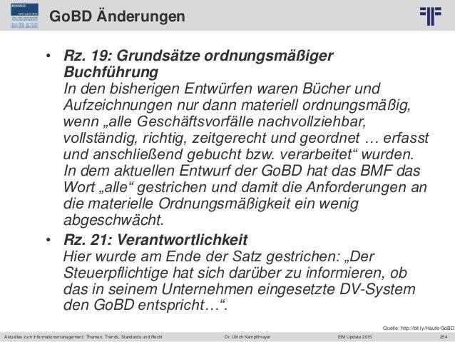 254 © PROJECT CONSULT Unternehmensberatung Dr. Ulrich Kampffmeyer GmbH 2011 / Autorenrecht: <Vorname Nachname> Jun-15 / Qu...