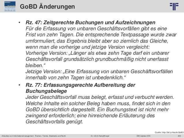 255 © PROJECT CONSULT Unternehmensberatung Dr. Ulrich Kampffmeyer GmbH 2011 / Autorenrecht: <Vorname Nachname> Jun-15 / Qu...