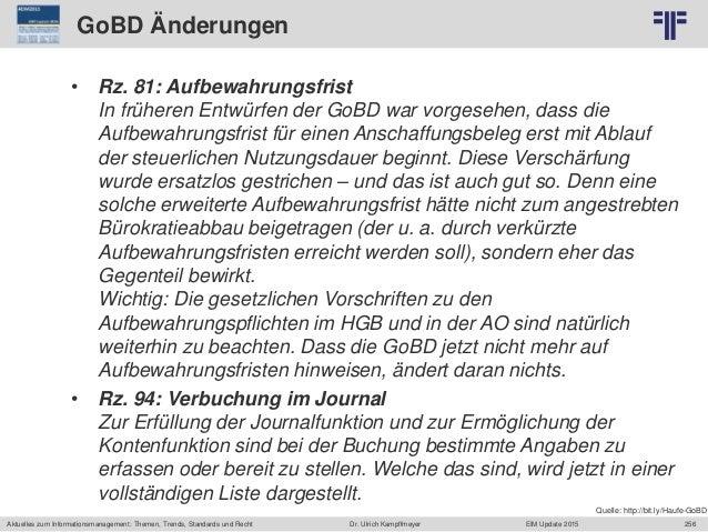 256 © PROJECT CONSULT Unternehmensberatung Dr. Ulrich Kampffmeyer GmbH 2011 / Autorenrecht: <Vorname Nachname> Jun-15 / Qu...