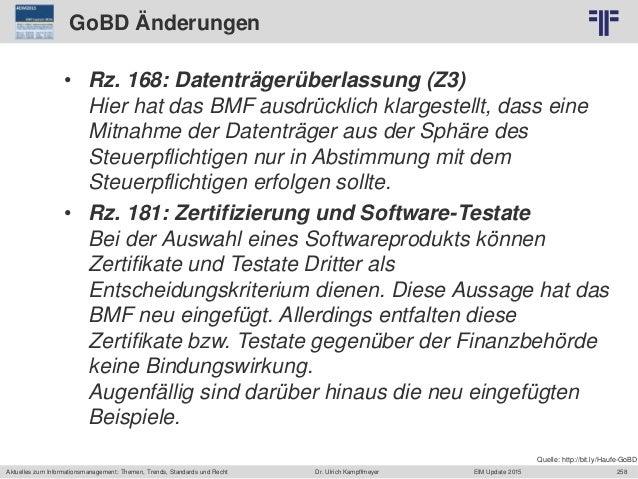 258 © PROJECT CONSULT Unternehmensberatung Dr. Ulrich Kampffmeyer GmbH 2011 / Autorenrecht: <Vorname Nachname> Jun-15 / Qu...
