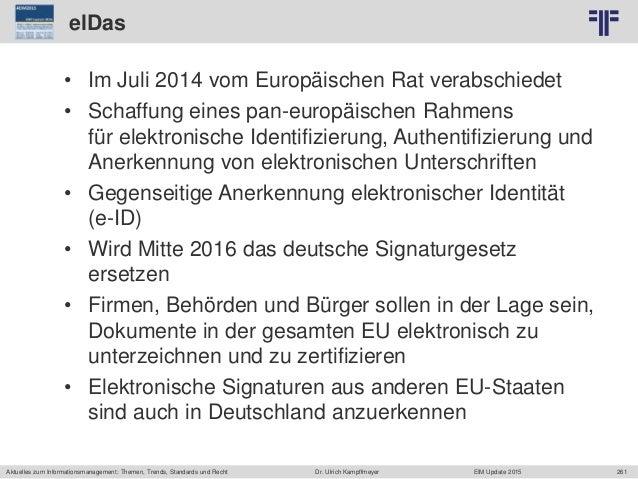 261 © PROJECT CONSULT Unternehmensberatung Dr. Ulrich Kampffmeyer GmbH 2011 / Autorenrecht: <Vorname Nachname> Jun-15 / Qu...