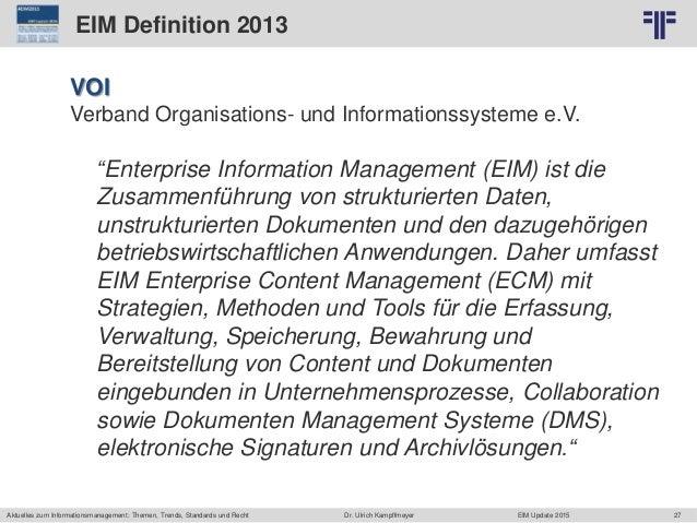27 © PROJECT CONSULT Unternehmensberatung Dr. Ulrich Kampffmeyer GmbH 2011 / Autorenrecht: <Vorname Nachname> Jun-15 / Que...