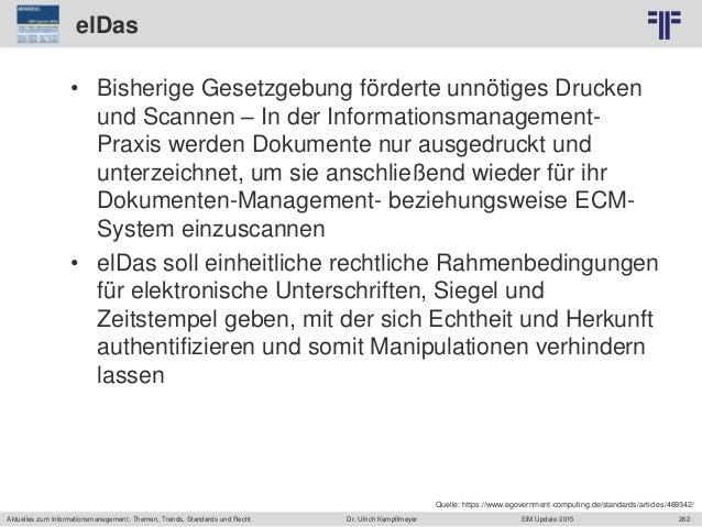 262 © PROJECT CONSULT Unternehmensberatung Dr. Ulrich Kampffmeyer GmbH 2011 / Autorenrecht: <Vorname Nachname> Jun-15 / Qu...