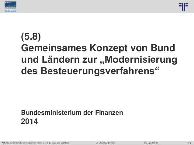 [DE] EIM Aktuelles zum Informationsmanagement: Themen, Trends, Standards und Recht | Dr. Ulrich Kampffmeyer | EIM Update 2015
