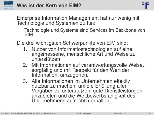 56 © PROJECT CONSULT Unternehmensberatung Dr. Ulrich Kampffmeyer GmbH 2011 / Autorenrecht: <Vorname Nachname> Jun-15 / Que...