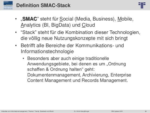 62 © PROJECT CONSULT Unternehmensberatung Dr. Ulrich Kampffmeyer GmbH 2011 / Autorenrecht: <Vorname Nachname> Jun-15 / Que...