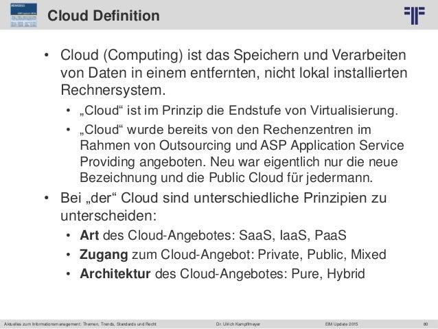 80 © PROJECT CONSULT Unternehmensberatung Dr. Ulrich Kampffmeyer GmbH 2011 / Autorenrecht: <Vorname Nachname> Jun-15 / Que...