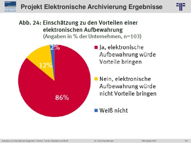 104 © PROJECT CONSULT Unternehmensberatung Dr. Ulrich Kampffmeyer GmbH 2011 / Autorenrecht: <Vorname Nachname> Jun-15 / Qu...