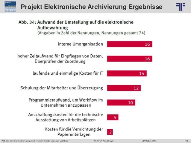 108 © PROJECT CONSULT Unternehmensberatung Dr. Ulrich Kampffmeyer GmbH 2011 / Autorenrecht: <Vorname Nachname> Jun-15 / Qu...