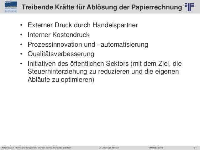 181 © PROJECT CONSULT Unternehmensberatung Dr. Ulrich Kampffmeyer GmbH 2011 / Autorenrecht: <Vorname Nachname> Jun-15 / Qu...
