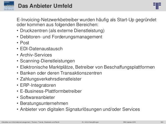 183 © PROJECT CONSULT Unternehmensberatung Dr. Ulrich Kampffmeyer GmbH 2011 / Autorenrecht: <Vorname Nachname> Jun-15 / Qu...