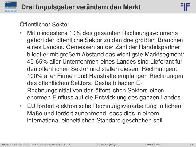 192 © PROJECT CONSULT Unternehmensberatung Dr. Ulrich Kampffmeyer GmbH 2011 / Autorenrecht: <Vorname Nachname> Jun-15 / Qu...