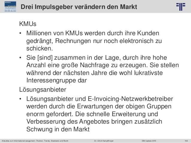 193 © PROJECT CONSULT Unternehmensberatung Dr. Ulrich Kampffmeyer GmbH 2011 / Autorenrecht: <Vorname Nachname> Jun-15 / Qu...