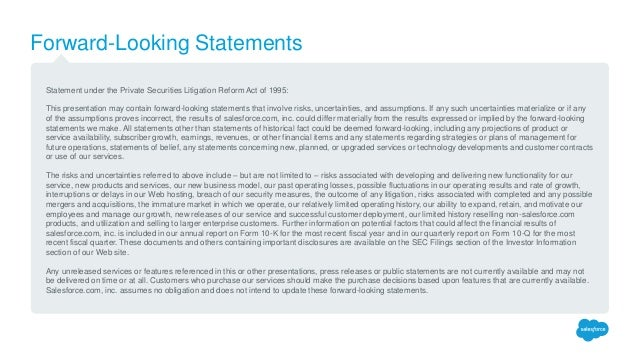 Forward-Looking Statements Statement under the Private Securities Litigation Reform Act of 1995: This presentation may con...