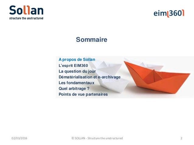 Eim360 Dématérialisation et Archivage électronique Slide 2