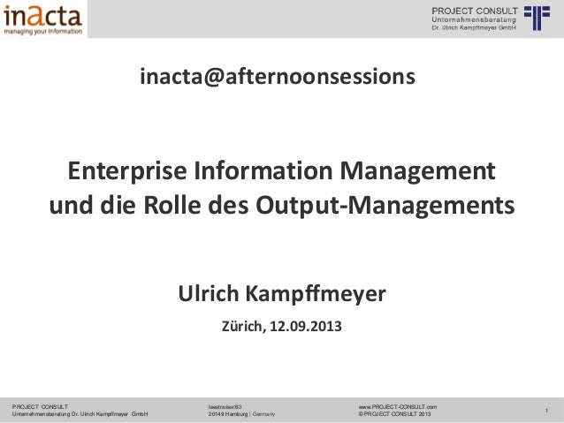 © PROJECT CONSULT Unternehmensberatung Dr. Ulrich Kampffmeyer GmbH 2011  / Autorenrecht: <Vorname Nachname> Mrz-14 / Quell...