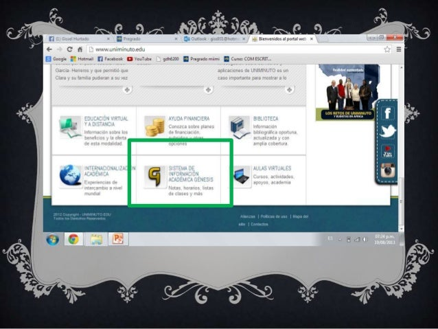 Inscripción de materias vía web