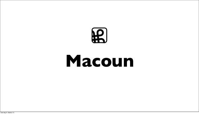Macoun ⌘ Dienstag, 8. Oktober 13