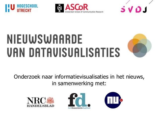 Onderzoek naar informatievisualisaties in het nieuws, in samenwerking met: