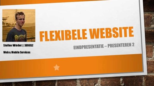 Steffen Witvliet || 389652 Web & Mobile Services