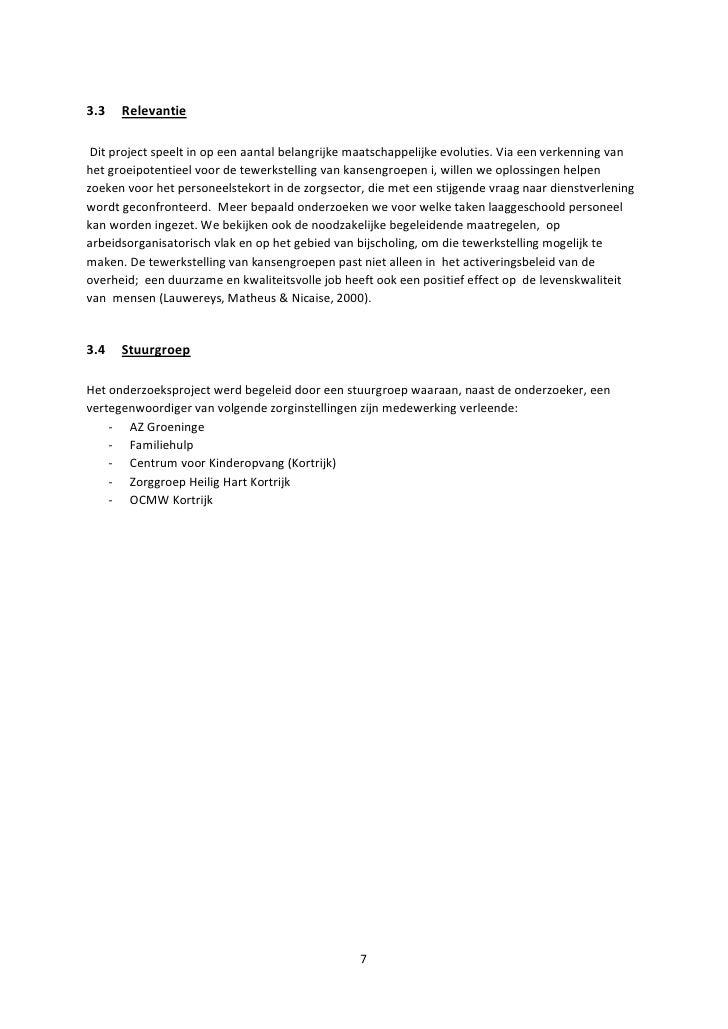 sollicitatiebrief kinderverzorgster Eindrapport kansengroepen in de zorgsector januari 2011 led sociale e… sollicitatiebrief kinderverzorgster
