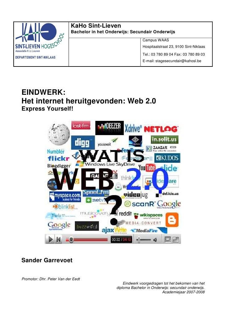 KaHo Sint-Lieven                            Bachelor in het Onderwijs: Secundair Onderwijs                                ...