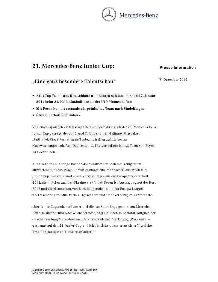 0HUFHGHV%HQ] -XQLRU XS                                                       Presse-Information                           ...