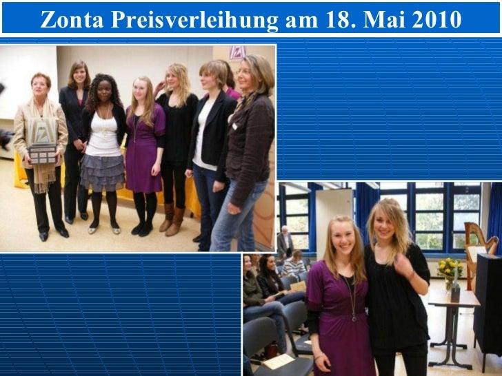 Zonta Preisverleihung am 18. Mai 2010