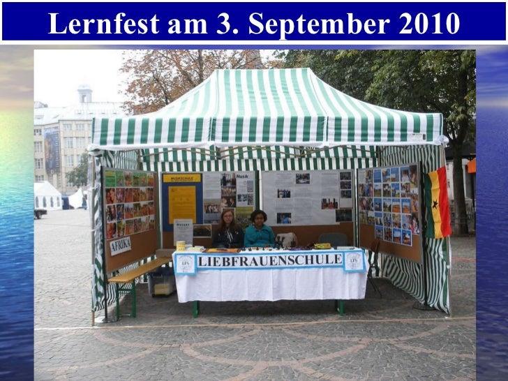 Lernfest am 3. September 2010