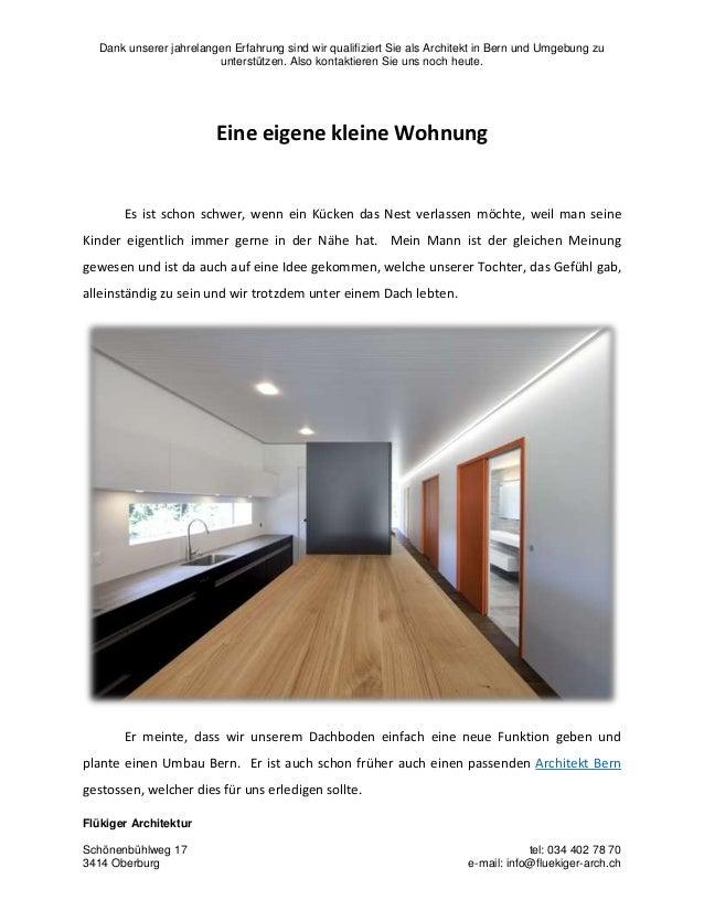 Dank unserer jahrelangen Erfahrung sind wir qualifiziert Sie als Architekt in Bern und Umgebung zu unterstützen. Also kont...