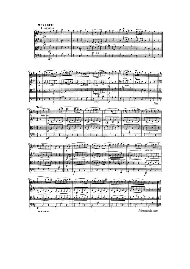 Minuetto de la Pequeña Serenata Nocturna de Mozart