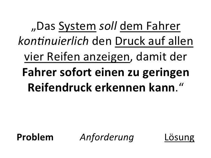 """""""Das System soll dem Fahrer kon-nuierlich den Druck auf allen  vier Reifen anzeigen, damit der..."""