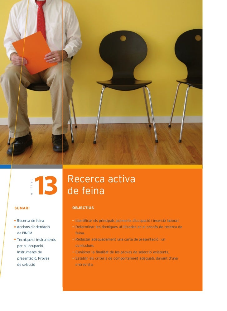13        Recerca activa            u n i t a t                              de feinaSUMARI                        OBJECTI...