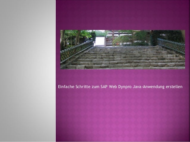 Einfache Schritte zum SAP Web Dynpro Java-Anwendung erstellen