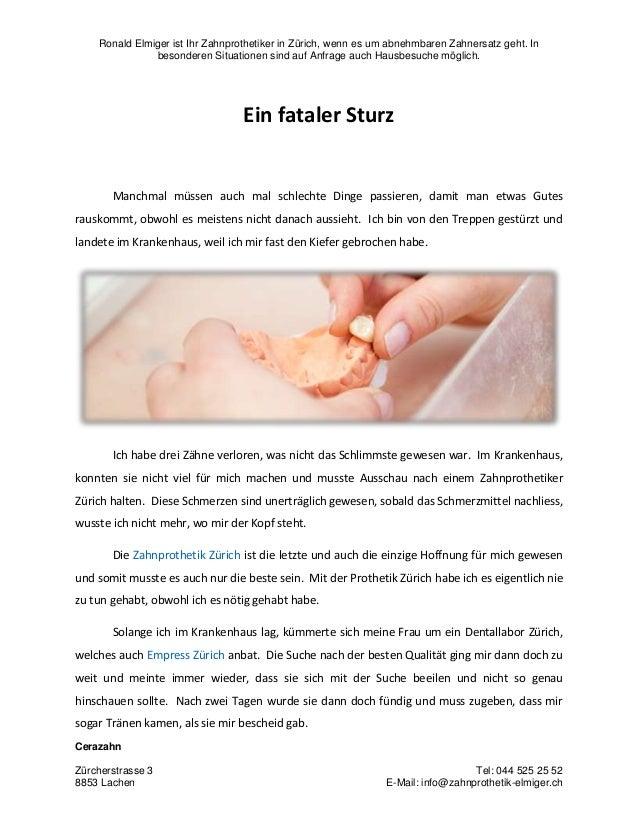 Ronald Elmiger ist Ihr Zahnprothetiker in Zürich, wenn es um abnehmbaren Zahnersatz geht. In besonderen Situationen sind a...