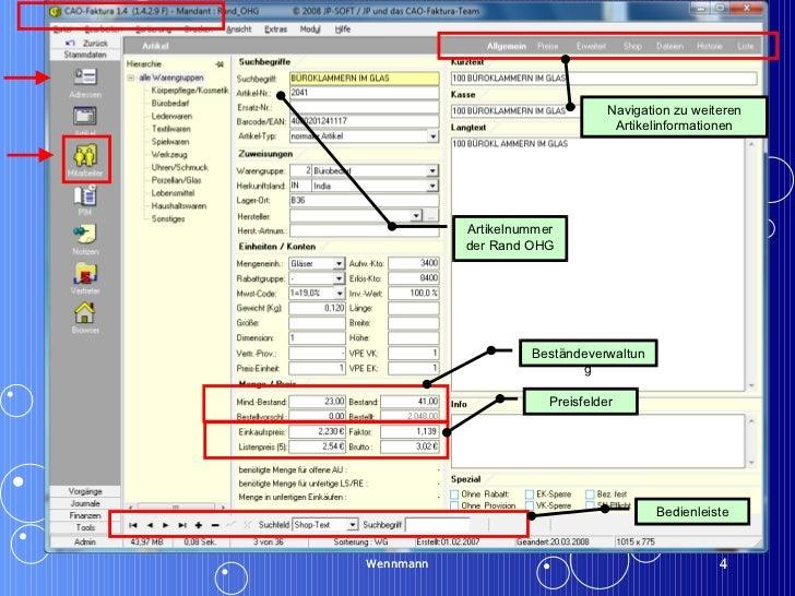 Wennmann Wennmann Artikelnummer der Rand OHG Bedienleiste Navigation zu weiteren Artikelinformationen Beständeverwaltung P...
