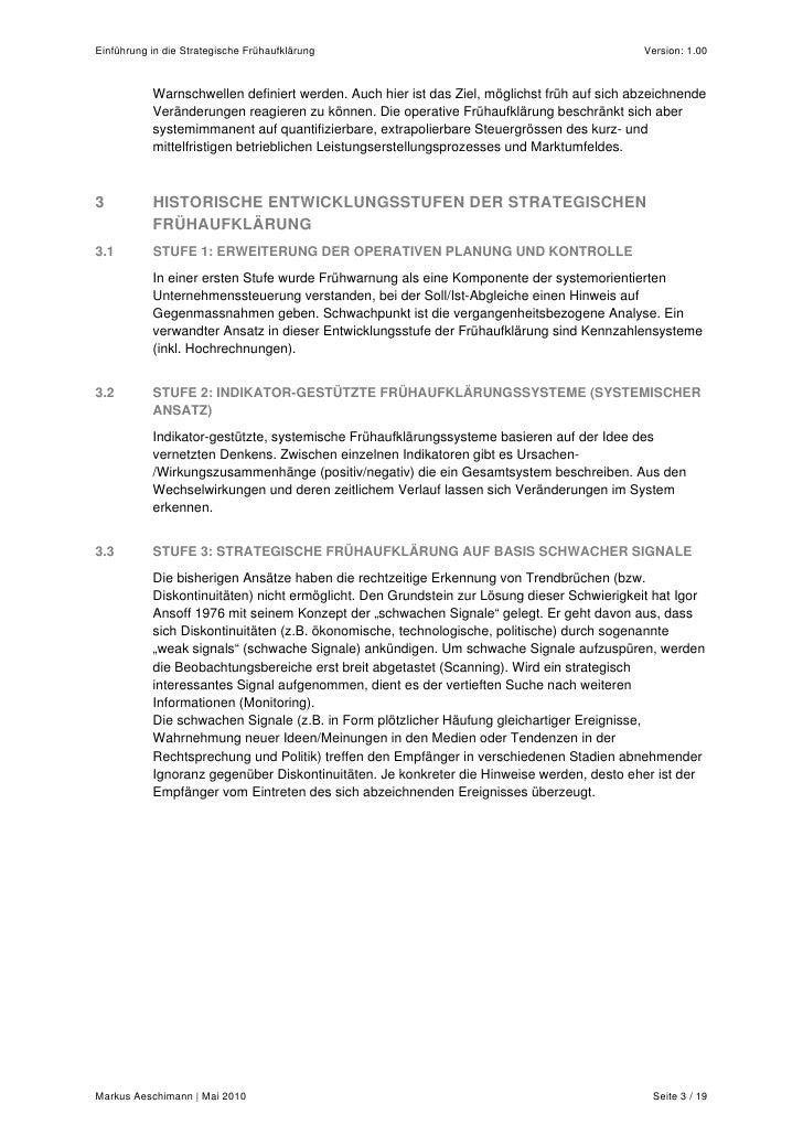 Einführung in die strategische Frühaufklärung Slide 3