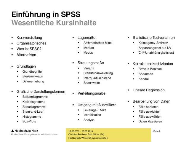 Einführung in SPSS Slide 2