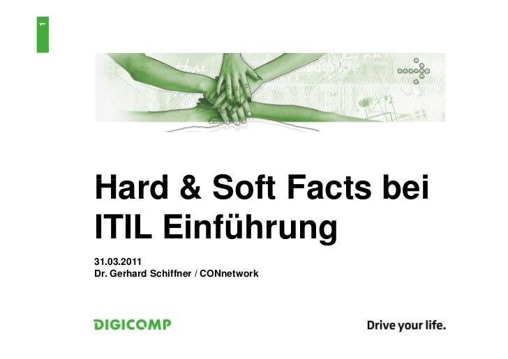 1    Hard & Soft Facts bei    ITIL Einführung    31.03.2011    Dr. Gerhard Schiffner / CONnetwork