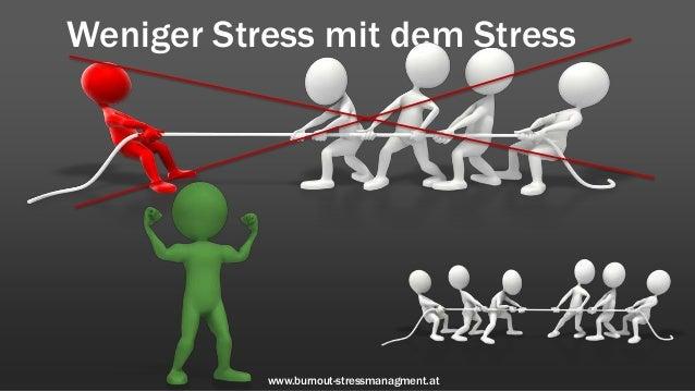 Weniger Stress mit dem Stress           www.burnout-stressmanagment.at