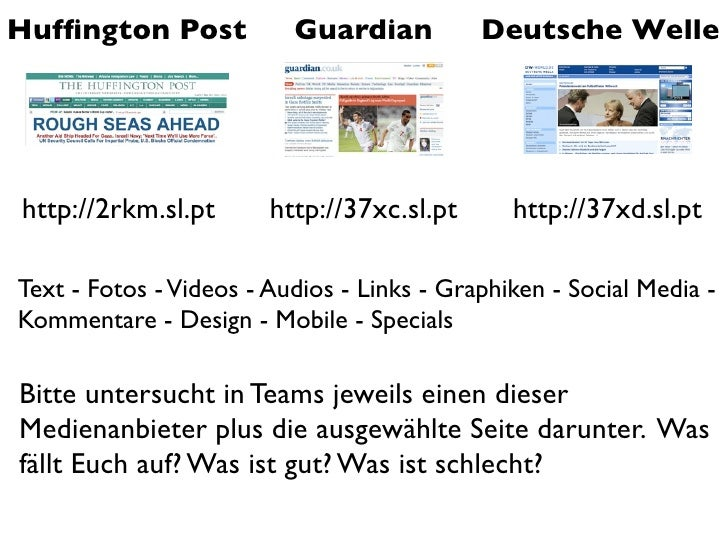 Onlinejournalismus - Tag 1