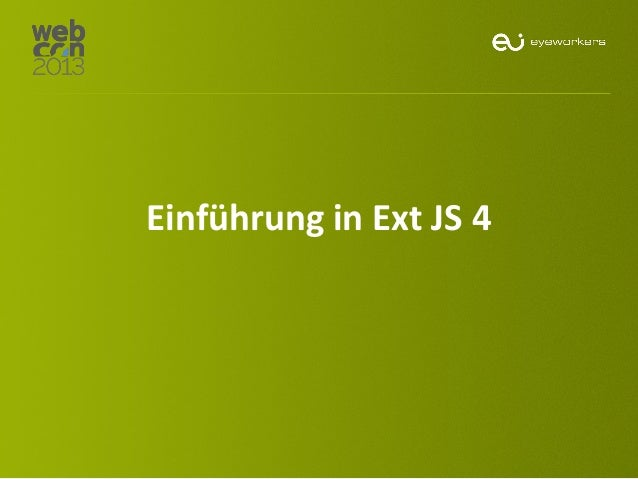 Einführung in Ext JS 4