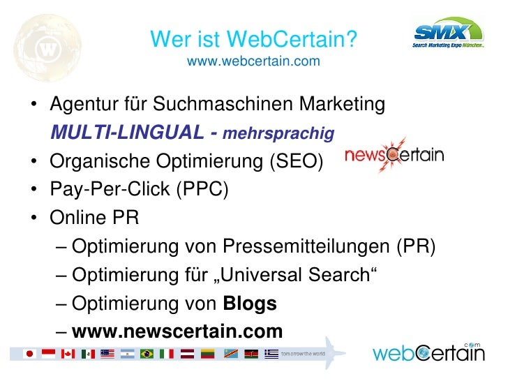 Introduction to SEO and Blogging (German) Slide 2