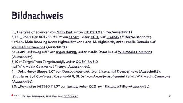 """Bildnachweis 1: """"The tree of science"""" von Mark Piet, unter CC BY 3.0 (Filter/Ausschnitt). 3, 15: """"Road sign 808733 1920"""" v..."""