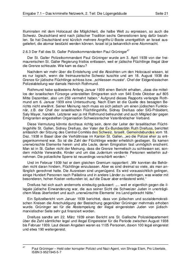 Eingabe 7.1 – Das kriminelle Netzwerk, 2. Teil: Die Lügengebäude                          Seite 21Illuminaten mit dem Holo...