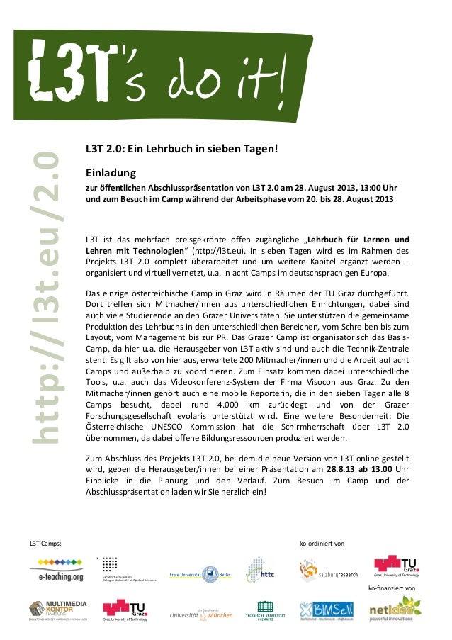 L3T-Camps: ko-ordiniert von L3T                            L3T  2.0:  Ein  Lehrbuch  in  siebe...