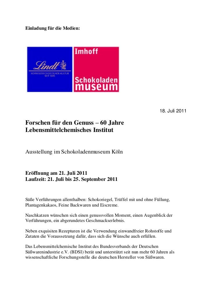 Einladung für die Medien:                                                                       18. Juli 2011Forschen für ...
