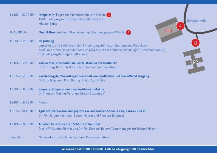 11.00 – 16.00 Uhr Infopoint im Foyer der Fachhochschule in Villach. 4                  AMMT-Lehrgang und znt-Richter ste...