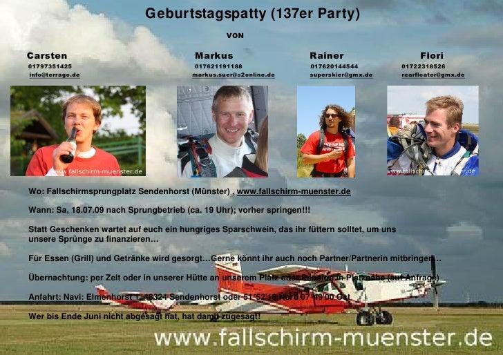 Geburtstagspatty (137er Party)                                                  VON  Carsten                              ...